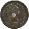 Large Cents, 1792 P1C One Cent, Judd-1, Pollock-1, High R.6, SP35 PCGS. CAC....