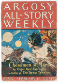 Pulps:Science Fiction, Argosy All-Story Weekly - February 18, 1922 (Munsey) Condition: VG....