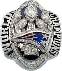 2016 New England Patriots Super Bowl LI Championship Ring Presented to Player