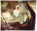 Animation Art:Presentation Cel, Bambi Thumper Color Model/Publicity Cel with Background(Walt Disney, 1942). ...