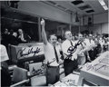 Explorers:Space Exploration, Apollo 13 Mission Control Photo Signed by Kranz, Kraft, Griffin, and Lunney. ...
