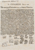 Explorers:Space Exploration, Apollo 9 Flown Copy of the United States Engrossed Declaration of Independence Directly from the Personal Collection of Missio...