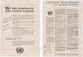 """Explorers:Space Exploration, Apollo 9 Flown Copies of the United Nations Charter and """"Universal Declaration of Human Rights"""" Directly from the Personal Col... (Total: 2 Items)"""