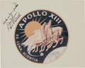 """Explorers:Space Exploration, James Lovell Signed Apollo 13 Insignia NASA Vintage """"Red Number"""" Color Photo. ..."""