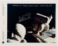 Explorers:Space Exploration, Apollo 16: Trans-Earth EVA Color NASA Photo Signed by Duke and Mattingly. ...