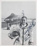 Explorers:Space Exploration, Pete Knight Signed X-15 Photo with Added Record Flight Information. ...