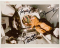 Explorers:Space Exploration, Apollo-Soyuz Test Project In-Flight Color Photo Signed by Leonov, Kubasov, and Stafford. ...