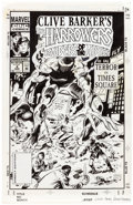Original Comic Art:Covers, Gene Colan and Randy Emberlin Clive Barker's The Harrowers #4 Cover Original Art (Marvel/Epic, 1994)....