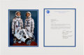 Explorers:Space Exploration, Gemini 4 Crew-Signed Typed Letter Signed with Mission Content, in Matted Display with Color Photo. ...