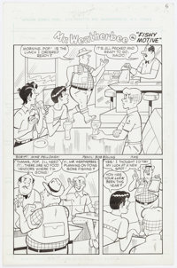 """Bob Bolling and Jim Amash World of Archie Double Digest #8 Complete 5-Page Story """"Fishy Motive"""" Original Art (..."""