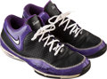 Basketball Collectibles:Others, 2008 Kevin Martin Game Worn & Signed Sacramento Kings Sneakers....