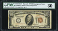 Small Size:World War II Emergency Notes, Fr. 2303* $10 1934A Hawaii Federal Reserve Note. PMG Very Fine 30.. ...