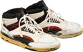 Basketball Collectibles:Others, 1980's Hakeem (Akeem) Olajuwon Game Worn & Signed HoustonRockets Sneakers. ...