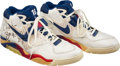 Basketball Collectibles:Others, 1991-92 Charles Barkley Game Worn & Signed Philadelphia 76ers Sneakers....