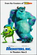 """Movie Posters:Animation, Monsters, Inc. & Other Lot (Buena Vista, 2001). Rolled, Very Fine/Near Mint. One Sheets (2) (27"""" X 40"""") DS Advance. Animatio... (Total: 2 Items)"""