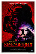 "Movie Posters:Science Fiction, Revenge of the Jedi (20th Century Fox, 1982). Rolled, Very Fine-. One Sheet (27"" X 41"") Advance Dated Style. Drew Struzan Ar..."