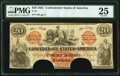 Confederate Notes:1861 Issues, T19 $20 1861 PF-1 Cr. 137 PMG Very Fine 25, COC.. ...