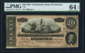 Confederate Notes:1864 Issues, T67 $20 1864 PF-14 Cr. 514 PMG Choice Uncirculated 64 EPQ.. ...