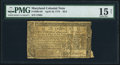 Colonial Notes:Maryland, Maryland April 10, 1774 $2/3 PMG Choice Fine 15 Net.. ...