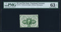 Fractional Currency:First Issue, Fr. 1241 10¢ First Issue PMG Choice Uncirculated 63 EPQ.. ...
