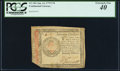 Colonial Notes:Continental Congress Issues, Continental Currency January 14, 1779 $70 PCGS Extremely Fine 40.. ...