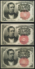 Fractional Currency:Fifth Issue, Fr. 1265 10¢ Fifth Issue New;. Fr. 1266 10¢ Fifth Issue About New;. Fr. 1266 10¢ Fifth Issue XF.. ... (Total: 3 notes)