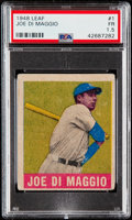 Baseball Cards:Singles (1940-1949), 1948 Leaf Joe DiMaggio #1 PSA Fair 1.5....