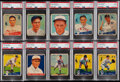 Baseball Cards:Lots, 1933-34 Goudey Baseball PSA-Graded Collection (10). ...