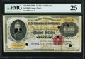Large Size:Gold Certificates, Fr. 1225b $10,000 1900 Gold Certificate PMG Very Fine 25.. ...