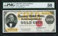 Large Size:Gold Certificates, Fr. 1215 $100 1922 Gold Certificate PMG About Uncirculated 50.. ...