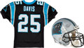 Football Collectibles:Uniforms, 1996 Eric Davis Game Worn Carolina Panthers Jersey and Helmet from The Eric Davis Collection....