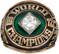 Baseball Collectibles:Others, 1972 Oakland Athletics World Series Ring Presented to Clubhouse & Equipment Manager Frank Ciensczyk....