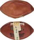 Football Collectibles:Balls, 1990's Eric Davis Game Used & Signed Interception Footballs Lot of 2 from The Eric Davis Collection. ...