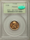 Proof Lincoln Cents: , 1938 1C PR66 Red PCGS. CAC. PCGS Population: (359/54). NGC Census: (136/19). CDN: $250 Whsle. Bid for problem-free NGC/PCGS...