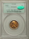 Proof Lincoln Cents: , 1942 1C PR66 Red PCGS. CAC. PCGS Population: (167/5). NGC Census: (86/7). CDN: $500 Whsle. Bid for problem-free NGC/PCGS PR...