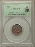 Proof Indian Cents, 1887 1C PR64 Red and Brown PCGS. Eagle Eye Photo Seal. PCGS Population: (116/79). NGC Census: (38/62). PR64. Mintage 2,960...
