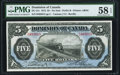 Canadian Currency, DC-21c $5 1912 PMG Choice About Unc 58 EPQ.. ...