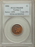 Proof Indian Cents, 1886 1C Type Two PR64 Red Brown PCGS. PCGS Population: 46 in 64 (1 in 64+), 26 finer (4/19).. From The William Rehwald ...