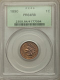 Proof Indian Cents: , 1890 1C PR64 Red and Brown PCGS. PCGS Population: (144/50). NGC Census: (82/47). PR64. Mintage 2,740. . From The Willia...