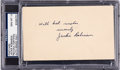 Autographs:Post Cards, 1947 Jackie Robinson Signed Government Postcard, PSA/DNA Gem Mint10 - His First Week in the Majors....