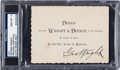 Autographs:Others, 1896 George Wright Signed Wright & Ditson Silver AnniversaryDinner Invitation, PSA/DNA Gem Mint 10....