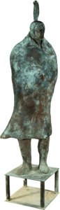 Fine Art - Sculpture, American, Fritz Scholder (American, 1937-2005). Untitled. Bronze withgreenish-brown patina. 93 inches (236.2 cm) high. Ed. 1/5. I...