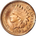 Indian Cents, 1902 1C MS67 Red PCGS....