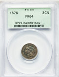 Proof Three Cent Nickels: , 1876 3CN PR64 PCGS. PCGS Population: (188/118). NGC Census: (118/124). PR64. Mintage 1,150. . From The William Rehwald ...