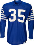 Football Collectibles:Uniforms, Circa 1955 Alan Ameche Game Worn Baltimore Colts Rookie-Era Jersey - Photo Matched!...