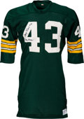 Football Collectibles:Uniforms, 1968 Doug Hart Game Worn & Signed Green Bay Packers Jersey, MEARS A10....