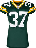 Football Collectibles:Uniforms, 2011 Sam Shields Game Worn & Unwashed Green Bay Packers - With Team LOA....
