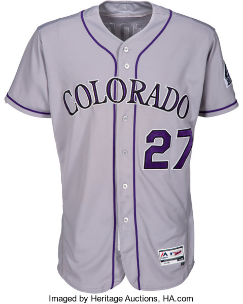 premium selection d2be2 bbd8e 2017 Trevor Story Game Worn Colorado Rockies Jersey - MLB ...