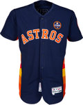 Baseball Collectibles:Uniforms, 2017 Alex Bregman Game Worn Houston Astros Jersey -- Photo Matched to AL West Division Clinching Game....