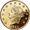 """(2001) $50 S.S.C.A. Relic Gold Medal """"1855 Kellogg & Co. Fifty"""" Gem Proof PCGS....(PCGS# 10358)"""